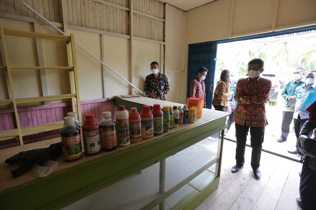 Diskominfosantik Prov. Kalteng Kunjungi BUMDes Pematang Panjang Seruyan