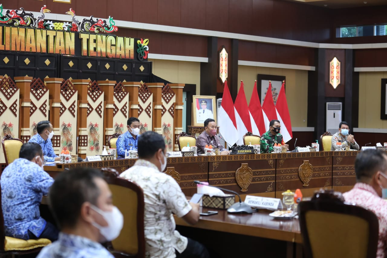 Gubernur Kalteng Pimpin Rapat Koordinasi Dalam Rangka Percepatan Pelaksanaan Vaksinasi Covid-19