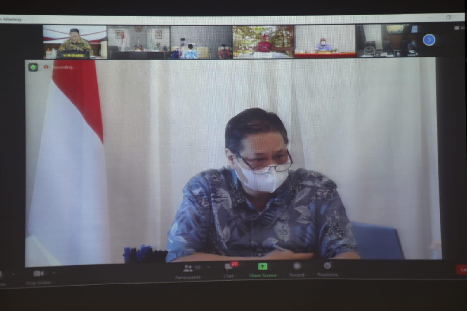 Ikuti Rakor PPKM, Wagub Sampaikan Laporan Terkini di Kalteng