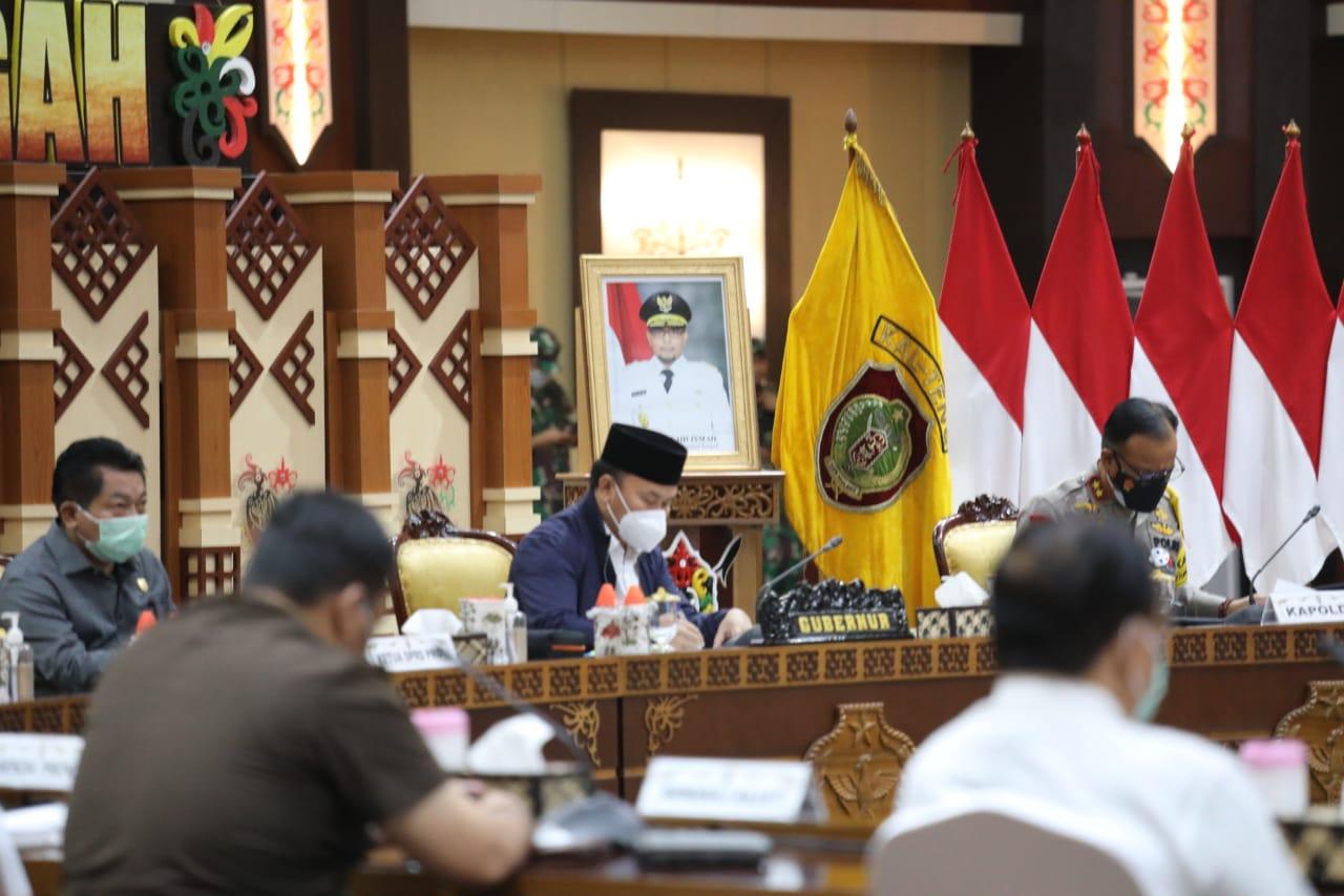 Gubernur Kalteng Minta Perhatian Serius Bupati/Walikota Terkait Penanganan Covid-19