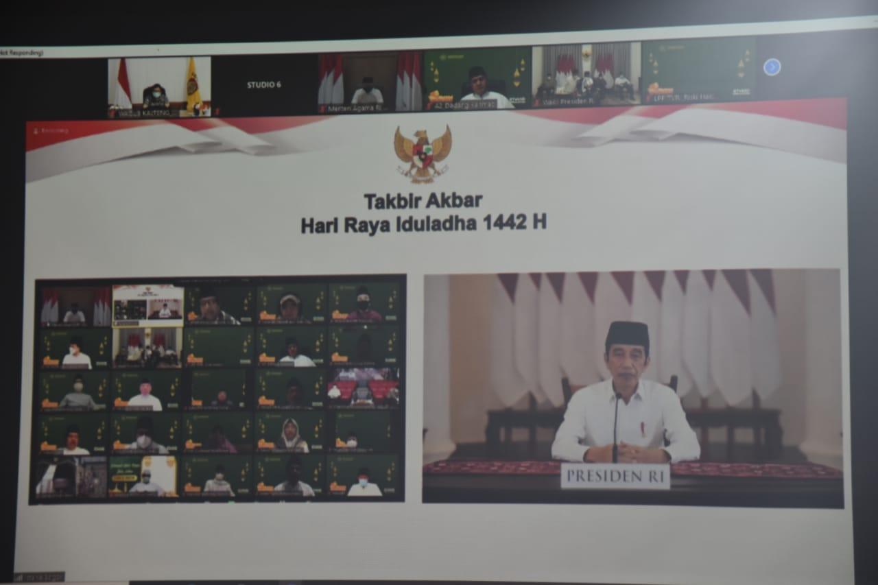 Wakil Gubernur Ikuti Takbir Akbar Secara Virtual