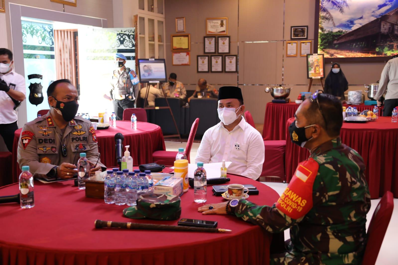 Gubernur Kalteng Hadiri Rapat Penanganan Covid-19 Bersama Forkopimda