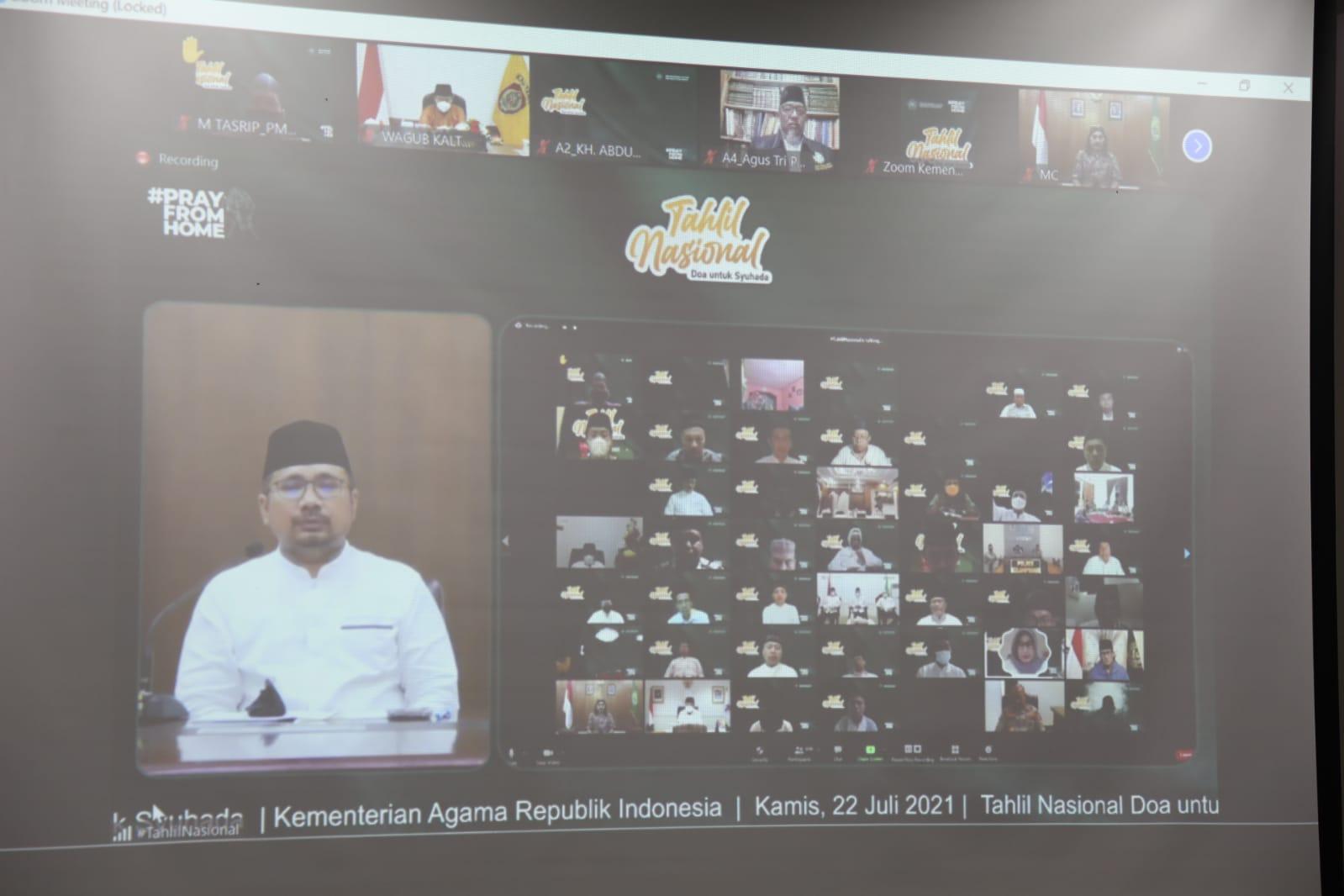 Doa Untuk Syuhada, Wagub Ikuti Tahlil Nasional Secara Virtual