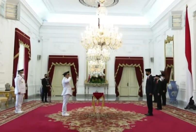 H. Sugianto Sabran dan H. Edy Pratowo Resmi Mengemban Jabatan Sebagai Gubernur dan Wakil Gubernur Kalteng Masa Jabatan 2021-2024