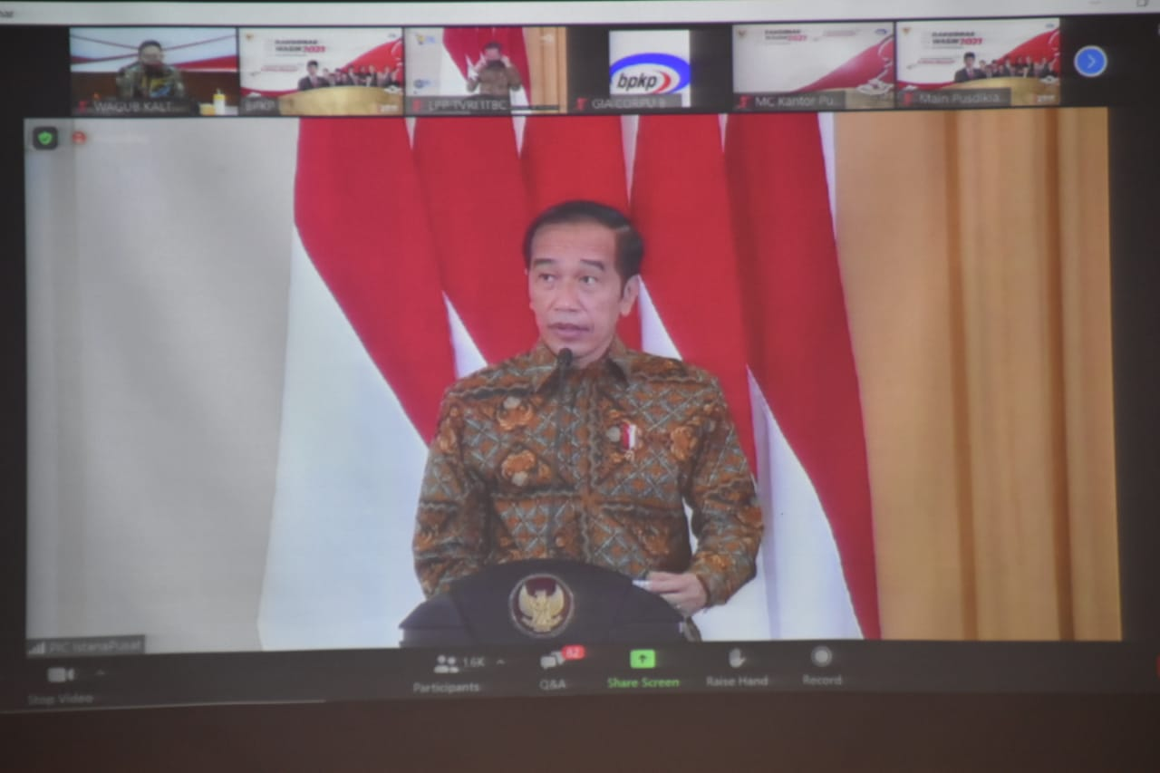 Wagub Kalteng Hadiri Pembukaan Rapat Koordinasi Nasional Pengawasan Intern Pemerintah Tahun 2021