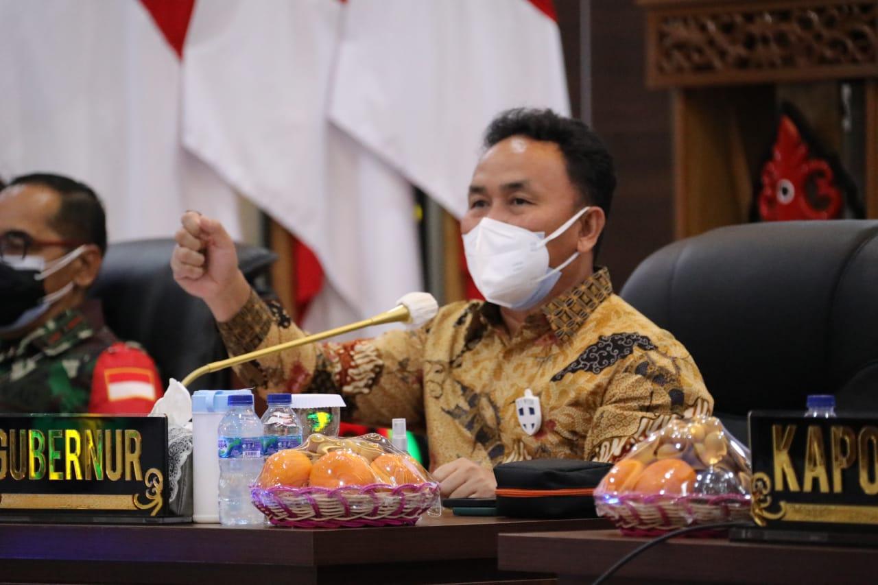 Tekan Angka Penyebaran, Gubernur Kalteng Sampaikan Arahan Kepada Forkopimda dan Wali Kota