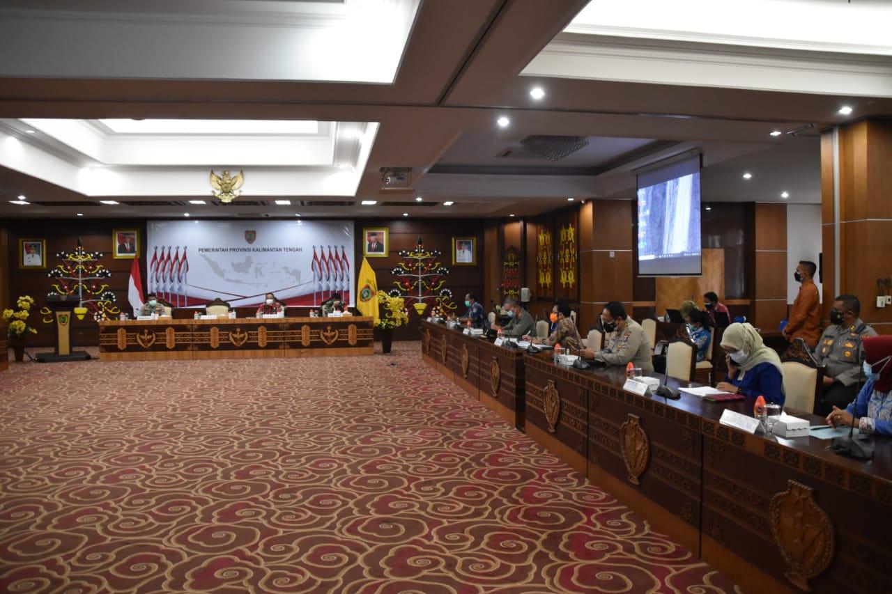 Pemprov dan Pemkot Koordinasi Penerapan PPKM di Kota Palangka Raya
